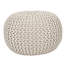 Decor Therapy® Cotton Lola Pouf Ottoman in Off White