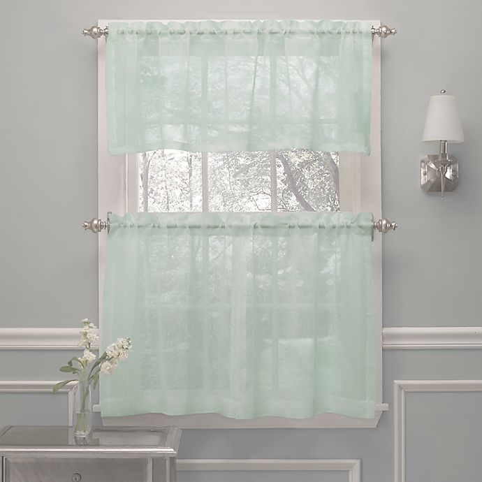 Alternate image 1 for Crushed Voile Window Curtain Valance