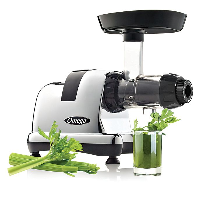 Alternate image 1 for Omega® J8006HDC Juicer in Chrome