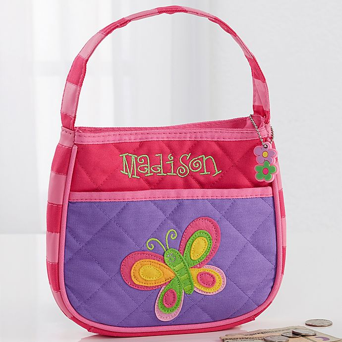 Alternate image 1 for Stephen Joseph® Butterfly Embroidered Purse