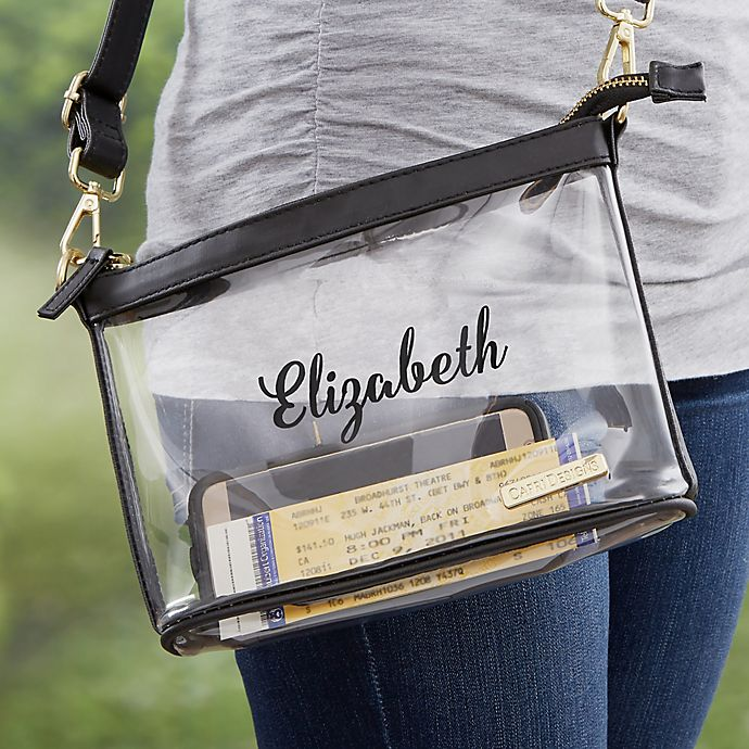 Alternate image 1 for Personalized Clear Stadium Purse