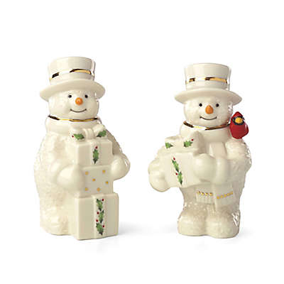 Lenox® Happy Holly Days™ Snowmen with Presents Salt and Pepper Shakers