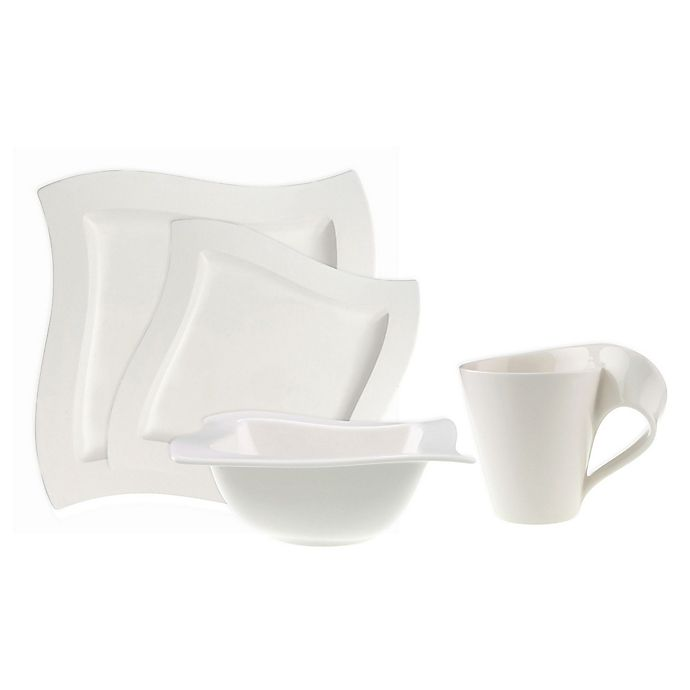 Alternate image 1 for Villeroy & Boch New Wave White 4-Piece Place Setting