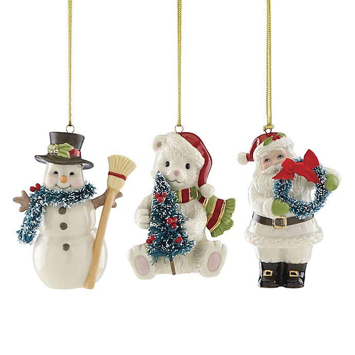 Lenox Christmas Ornaments.Lenox Winter Wonderland Christmas Ornaments Set Of 3