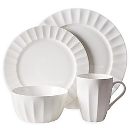 Nevaeh White® by Fitz and Floyd® Fluted 4-Piece Place Setting