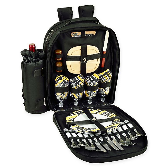 Alternate image 1 for Picnic at Ascot 4-Person Picnic Backpack