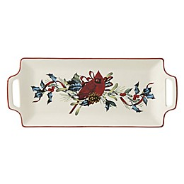 Lenox® Winter Greetings® 12-Inch Handled Hors d'oeuvre Tray
