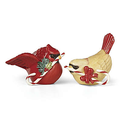 Lenox® Winter Greetings® Cardinals with Candy Canes Salt and Pepper Shakers