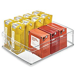iDesign™ Stackable 10-Inch x 8-Inch x 3-Inch Clear Cabinet Bin