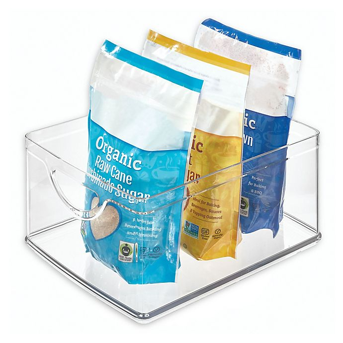 Alternate image 1 for iDesign™ Stackable 10-Inch x 8-Inch x 5-Inch Clear Cabinet Bin