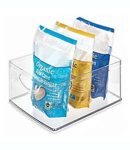 Contenedor de plástico iDesign® apilable de 25.4 cm x 20.32 cm