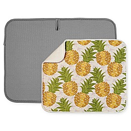 The Original™ 2-Piece Value Pack Dish Mats in Pineapple/Grey