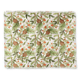 Deny Designs Cabin In The Woods Throw Blanket in Green