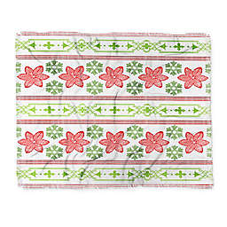 Deny Designs Holiday Snowdrift Throw Blanket in Red