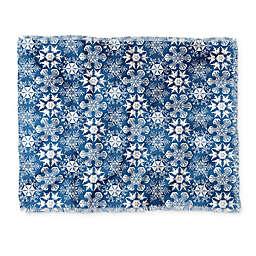 Deny Designs Lots of Snowflakes Throw Blanket in Blue