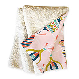 Deny Design Decorated Blush Throw Blanket in Pink