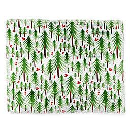 Deny Designs Christmas Tree Farm Throw Blanket in Green