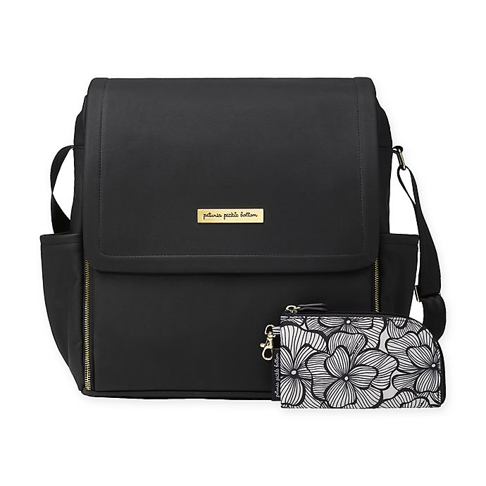 Alternate image 1 for Petunia Pickle Bottom® Boxy Backpack Diaper Bag in Black Leatherette