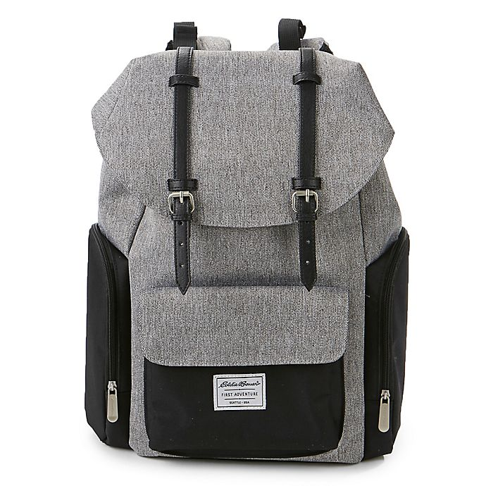 Alternate image 1 for Eddie Bauer® Places and Spaces Legend Backpack Diaper Bag in Grey/Black