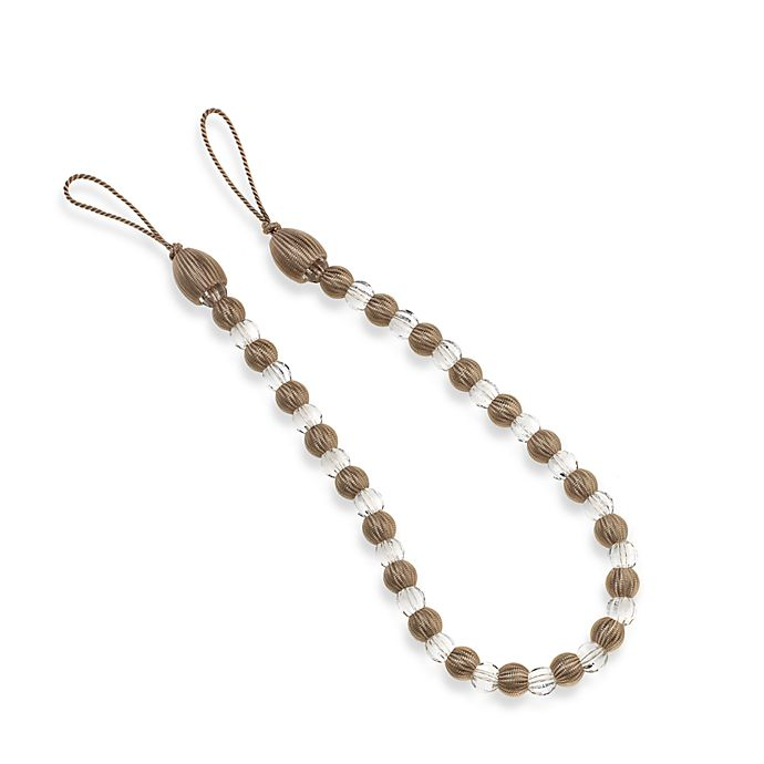 Alternate image 1 for Arlington Rayon Bead with Crystal Bead Tie Back in Cream