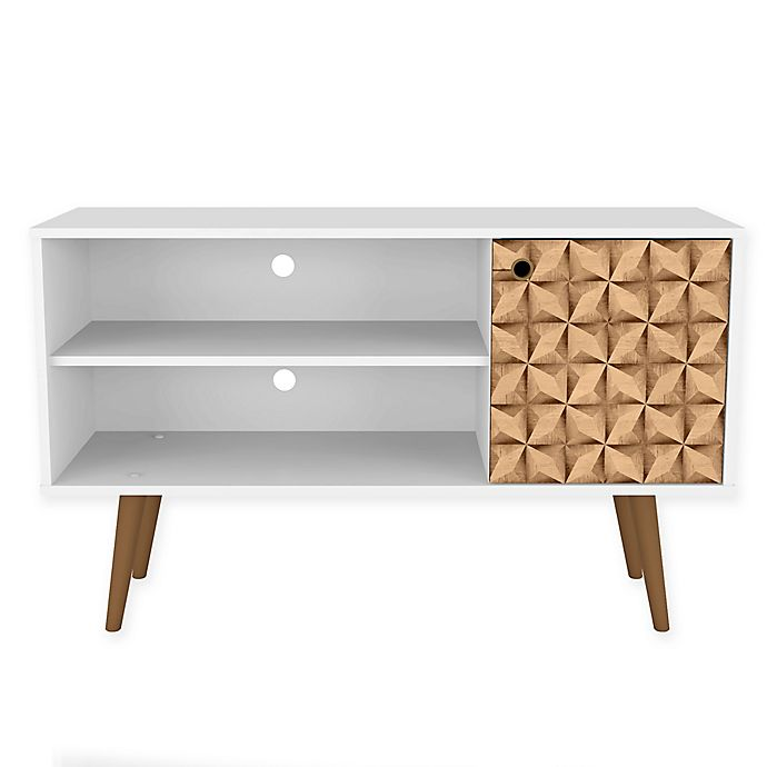 Alternate image 1 for Manhattan Comfort Liberty 42.5-Inch TV Stand in White/Brown