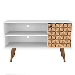 Manhattan Comfort Liberty 42.5-Inch TV Stand in White/Brown