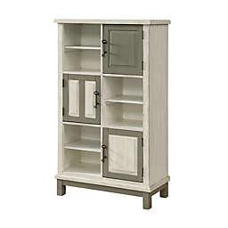 Coast to Coast Imports LLC® Keystone 3-Door Bookcase in Ivory