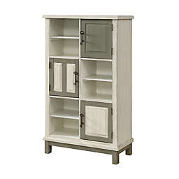 Coast to Coast Imports LLC® Keystone 3-Door Bookcase in Ivory