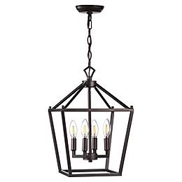 JONATHAN Y Pagoda Lantern Metal LED Pendant