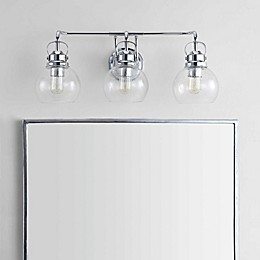 JONATHAN Y Shirley Metal/ Bubbled Glass Vanity Light in Chrome