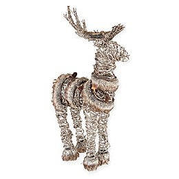 Gallerie II Fur Trim Deer Figure
