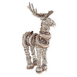 Gallerie II Fur Trim Deer Figure