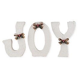 Gallerie II JOY Letters in Winter White (Set of 3)