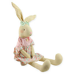 Northlight Floral Sitting Linen Bunny Figure