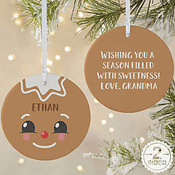 Gingerbread Character Personalized 2-Sided Matte Christmas Ornament