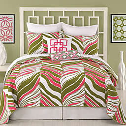Trina Turk® Tiger Leaf Reversible Coverlet