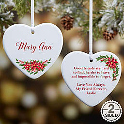 For Someone Special Personalized 2-Sided Christmas Ornament