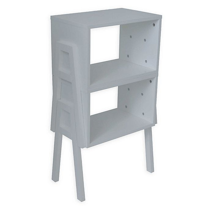Alternate image 1 for Stacking End Table/Bookcase in White (Set of 2)