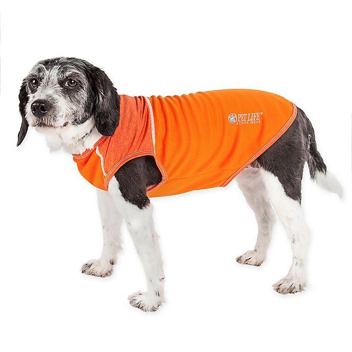 Alternate image 1 for Pet Life™ Active Aero-Pawlse Medium Dog Performance T-Shirt in Orange