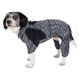 Pet Life® Active Extra-Small Downward Dog Full Bodied Hoodie in Black
