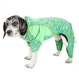 Pet Life® Active Medium Downward Dog Full Bodied Hoodie in Green