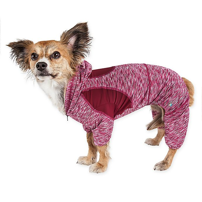 Alternate image 1 for Pet Life® Active Downward Dog Full Bodied Hoodie
