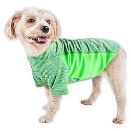 Pet Life® Active Warf Speed Medium Performance Dog T-Shirt in Green