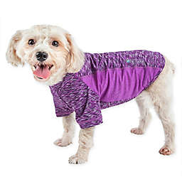 Pet Life® Active Warf Speed Large Performance Dog T-Shirt in Purple
