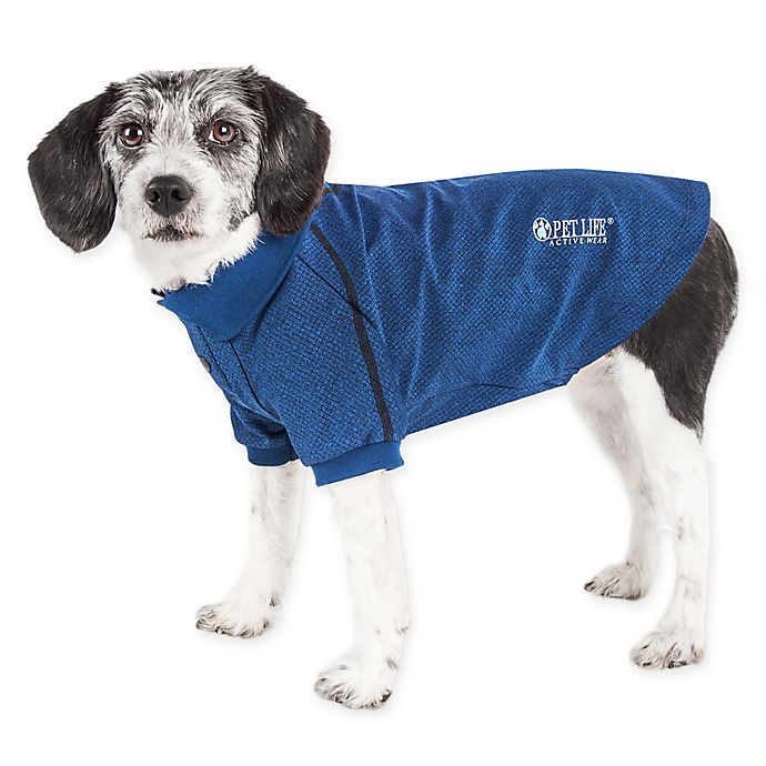 Alternate image 1 for Pet Life Active Extra-Small Fur-Flexed Solid Polo T-Shirt in Navy
