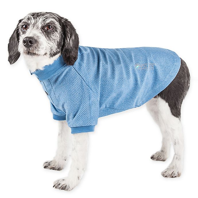 Alternate image 1 for Pet Life® Active Fur-Flexed Solid Polo T-Shirt