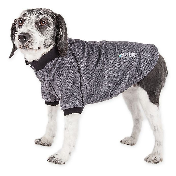 Alternate image 1 for Pet Life Active Fur-Flexed Solid Polo T-Shirt
