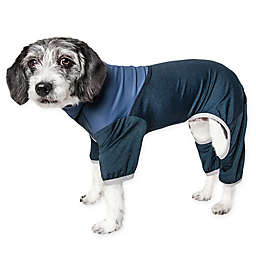 Pet Life® Embarker Small 2-Tone Performance Dog Tracksuit in Teal