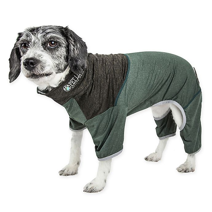Alternate image 1 for Pet Life® Embarker 2-Tone Performance Dog Tracksuit