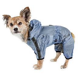 Pet Life® Torrential Shield Large Full Body Dog Windbreaker Raincoat in Blue